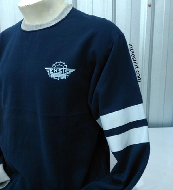 Sweater - Sweater Sablon Garis Lengan