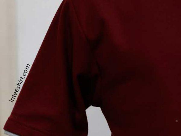 Polo Shirt Kombinasi Lengan Tumpuk